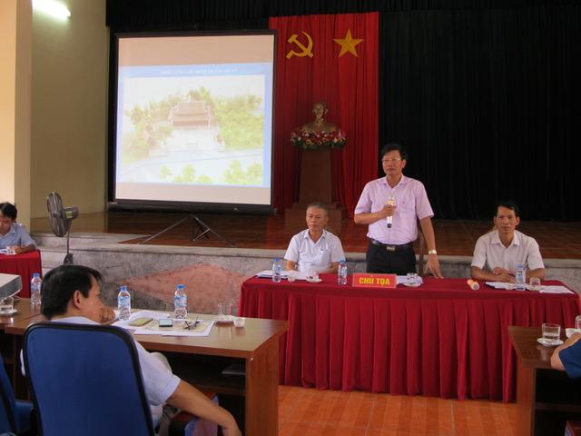 Chủ tịch UBND huyện phát biểu chỉ đạo tại cuộc họp