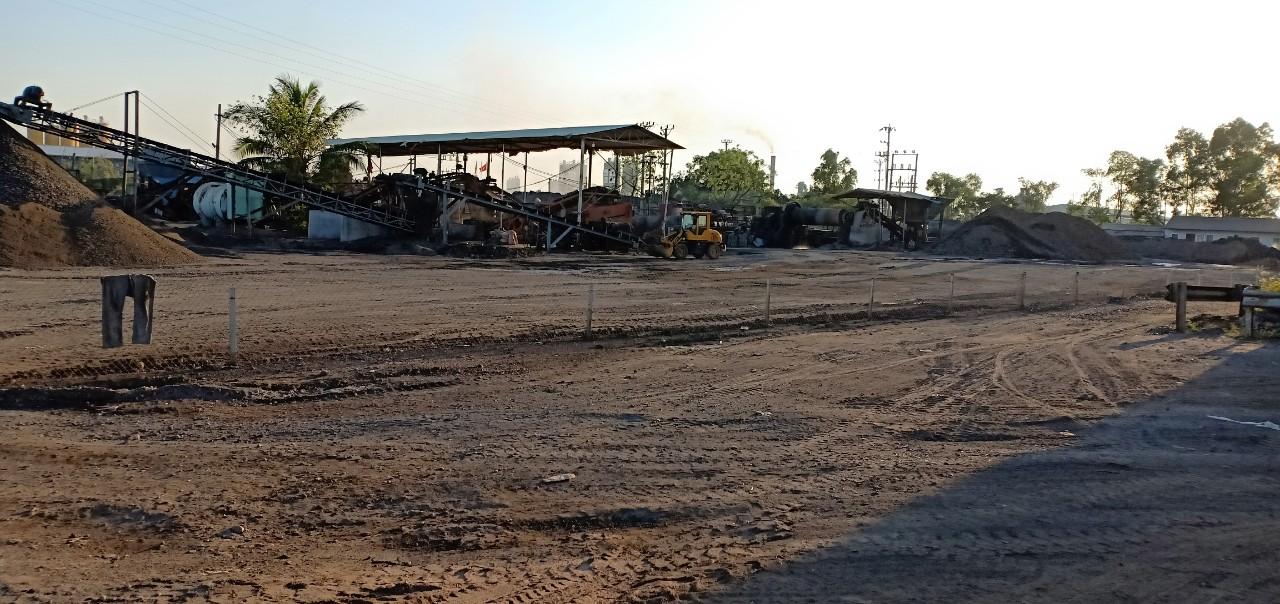 Doanh nghiệp đã di chuyển nguyên vật liệu sau tái chế ra khỏi bãi tập kết