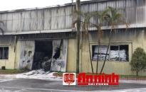 Cháy tại kho của Công ty Cổ phần Sơn Hải Phòng