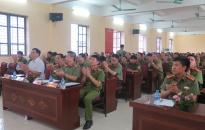 Khai giảng lớp tập huấn nghiệp vụ công an xã