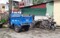 Xã An Đồng (huyện An Dương):  Thu giữ nhiều xe tự chế đổ trộm vôi thầu, gạch vỡ vi phạm hành lang bảo vệ đê điều