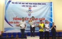 Quận Hồng Bàng: Trao giải các môn thi đấu TDTT