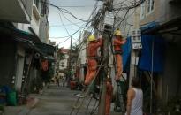 Phường Trại Chuối (Hồng Bàng): Di chuyển 22/32 cột điện giữa lòng đường