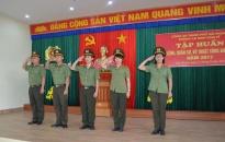 Phòng PA81-CATP tổ chức tập huấn điều lệnh, huấn luyện quân sự võ thuật năm 2017