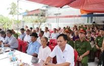 Công an huyện Tiên Lãng khánh thành Nhà tình nghĩa tặng gia đình liệt sĩ ở xã Quang Phục