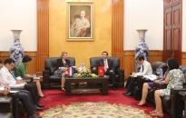 Phó Chủ tịch UBND thành phố tiếp đoàn Đại sứ quán Vương quốc Hà Lan