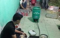 Tin thêm về vụ phát hiện cơ sở sang chiết gas trái phép trong khu dân cư