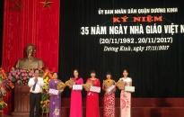 Quận Dương Kinh  Kỷ niệm 35 năm ngày Nhà giáo Việt Nam