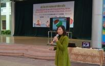 Trường tiểu học Lê Hồng Phong truyền thông và tư vấn về phòng chống thừa cân, béo phì
