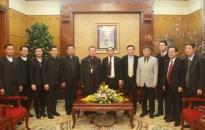 Lãnh đạo thành phố tiếp đoàn đại biểu Tòa giám mục Hải Phòng