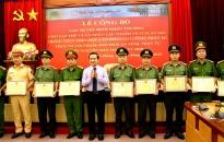 CATP: 12 tập thể và 5 cá nhân được khen thưởng