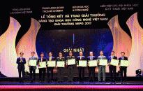 Giải thưởng Sáng tạo khoa học và công nghệ Việt Nam năm 2017: Quảng Ninh có công trình đoạt giải Nhất