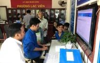 Đoàn Phường Lạc Viên: Hỗ trợ, hướng dẫn người dân lập 613 tài khoản trên hệ thống chính quyền điện tử