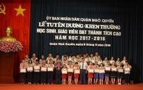 Quận Ngô Quyền: Biểu dương, khen thưởng học sinh và giáo viên đạt thành tích cao năm học 2017-2018
