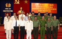 Công an thành phố: Công bố các quyết định của Bộ trưởng Bộ Công an sáp nhập Cảnh sát PCCC Hải Phòng về Công an thành phố Hải Phòng