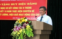 Đảng ủy khối doanh nghiệp thành phố: Trao huy hiệu Đảng tặng 12 đảng viên