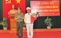 Công bố Quyết định về công tác cán bộ Công an huyện Tiên Lãng