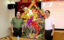 Lãnh đạo Công an thành phố chúc mừng Ngày truyền thống  Ngành kiểm tra Đảng