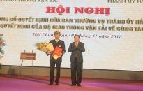 PGS.NGƯT.TS Lê Quốc Tiến được bầu giữ chức Bí thư Đảng ủy Trường Đại học Hàng hải Việt Nam
