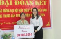 Khánh thành nhà tình nghĩa tặng hộ nghèo phường Quang Trung