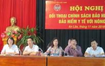 Đối thoại chính sách BHXH, BHYT với hội viên nông dân huyện An Lão