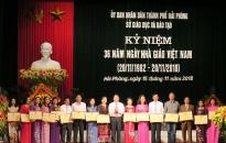 Ngành Giáo dục và Đào tạo Hải Phòng: Kỷ niệm Ngày Nhà giáo Việt Nam 20-11