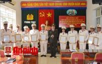 Thành lập Đảng bộ cơ sở Phòng An ninh đối nội