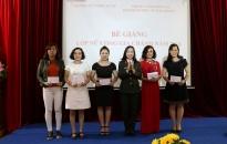 Bế giảng lớp nữ công gia chánh