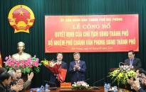 Bổ nhiệm đồng chí Nguyễn Ngọc Tú giữ chức Phó Chánh Văn phòng UBND thành phố
