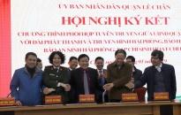 Quận Lê Chân:  Ký kết chương trình phối hợp tuyên truyền với các cơ quan báo chí