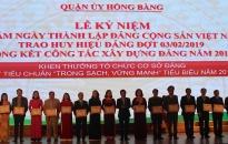 """Quận ủy Hồng Bàng: Biểu dương 16 cơ sở Đảng đạt tiêu chuẩn """"trong sạch, vững mạnh"""""""