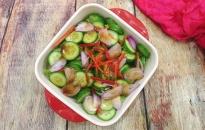 Salad dưa chuột sốt xì dầu