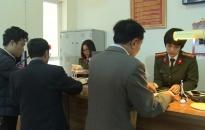 Ghi nhận không khí ngày đầu năm mới tại bộ phận tiếp dân Công an tỉnh Thái Bình