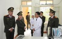 Cục Y tế Bộ Công an: Kiểm tra công tác khám chữa bệnh BHYT và vệ sinh phòng chống dịch bệnh tại Công an tỉnh Thái Bình