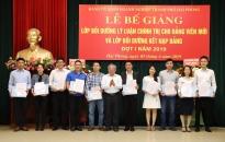 Đảng ủy khối doanh nghiệp thành phố:  Bế giảng hai lớp bồi dưỡng chính trị và kiến thức về Đảng năm 2019