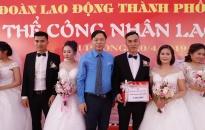 Tổ chức đám cưới tập thể cho 10 cặp đôi CNLĐ tại Hải Phòng