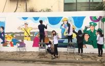 Chung tay hoàn thành bức tranh tường xanh