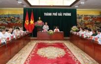 Tiểu Ban văn kiện Đại hội Đảng làm việc với lãnh đạo Thành phố