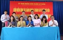 Quận Lê Chân:  Ký kết thực hiện các giải pháp để không còn hộ nghèo