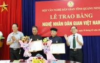 Quảng Ninh có thêm 3 Nghệ nhân dân gian