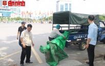 Quận Ngô Quyền: Lập lại trật tự đường hè nút giao thông ngã 6 - Lê Hồng Phong