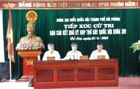 Đoàn đại biểu Quốc hội thành phố Hải Phòng:  Tiếp xúc cử tri tại quận Đồ Sơn