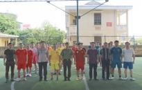 Giao hữu bóng đá chào mừng ngày truyền thống thanh tra CAND