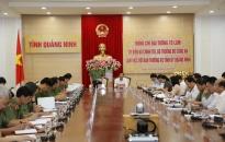 Đại tướng Tô Lâm làm việc với Ban Thường vụ Tỉnh ủy Quảng Ninh