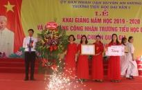 Xã Đại Bản (An Dương): Trường tiểu học Đại Bản 2 đón bằng công nhận đạt chuẩn quốc gia  cấp độ 1