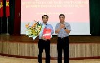 Đồng chí Nguyễn Minh Tuấn được bổ nhiệm Phó Giám đốc Sở Xây dựng