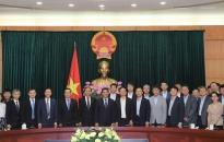 Lãnh đạo thành phố làm việc với đoàn công tác của VCCI và các cơ quan tổ chức doanh nghiệp Hàn Quốc