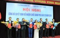 Trường Đại học Hàng Hải Việt Nam có thêm 6 Phó Giáo sư