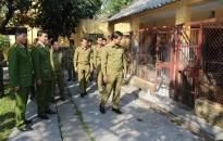 Phòng Cảnh sát cơ động:  Thường xuyên rèn luyện lễ tiết tác phong, kỷ luật kỷ cương