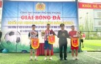Giải bóng đá khối An ninh nhân dân:  3 đội bóng vào vòng bán kết Công an thành phố